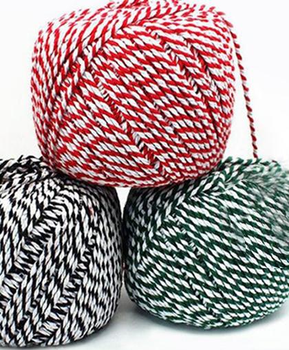 Толстая 2-х цветная пряжа-веревка, 4-5 мм