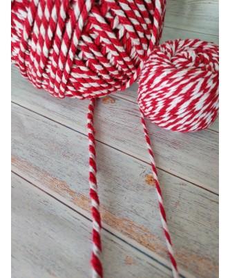 Толстая 2-х цветная пряжа-шнур, толщина 5 мм