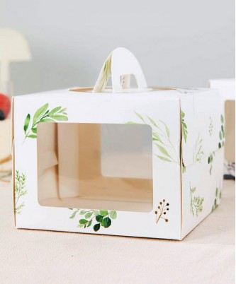 Коробка с 2-мя окнами, подложкой и ручкой