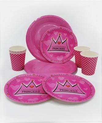 """Посуда для детского дня рождения """"Princess"""""""