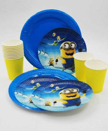 """Набор праздничной посуды """"Minions"""""""