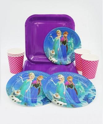 """Детская одноразовая посуда """"Холодное сердце"""""""