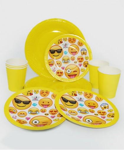 """Набор праздничной посуды """"Emoji"""""""