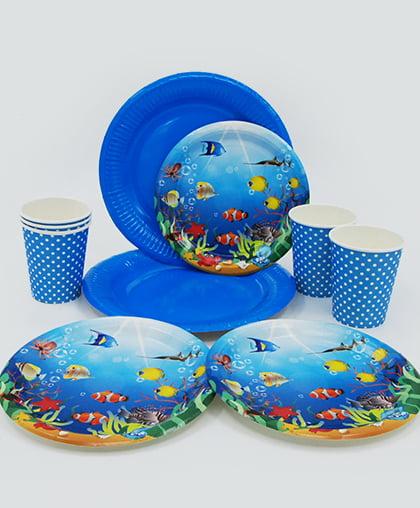 """Набор праздничной посуды """"Fish"""""""