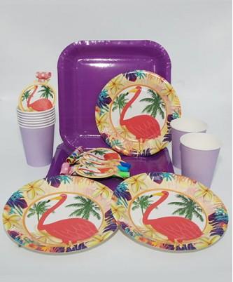 """Праздничная посуда """"Важный фламинго"""""""