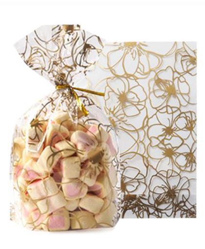 """Пакет """"Золотые цветы"""" / комплект 10 и 50 штук"""