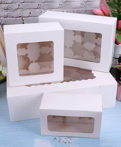 Коробка для кексов с подложкой / 2, 4, 6, 12-мест.