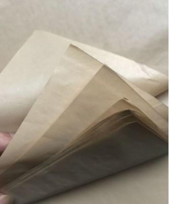 Крафтовая папиросная бумага, 50х70 см, 10 листов