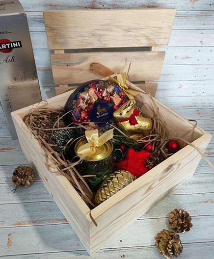 Подарочный ящик с реечной крышкой, дерево