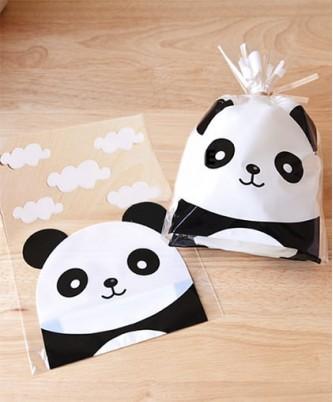 """Пакет """"Панда""""  /  10 шт."""