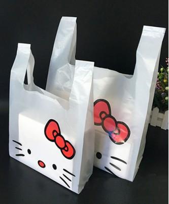 "Пакет-майка ""Hello Kitty"" / 10 шт."