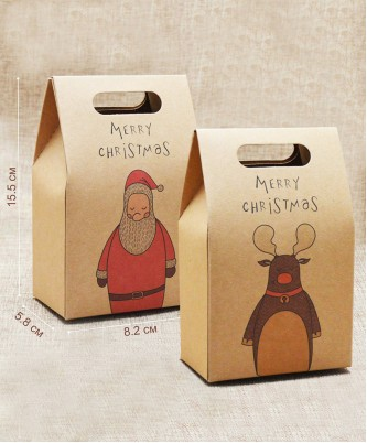 """Подарочная коробка """"Новогодний крафт"""""""