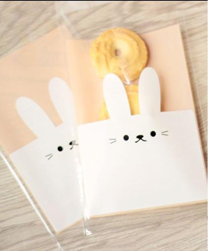 """Пакетик для подарков """"Кролик"""" / 100 шт."""