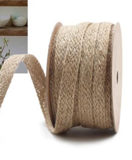 Льняная плетеная лента, ширина 1 см