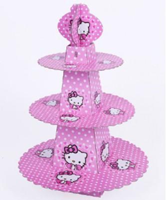 """Подставка для пирожных трехъярусная """"Hello Kitty"""""""