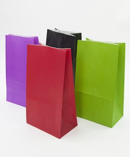 """Пакет бумажный """"Цвет"""" с дном / 10 штук"""