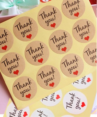 "Стикер ""Thank You"" | 12 шт."
