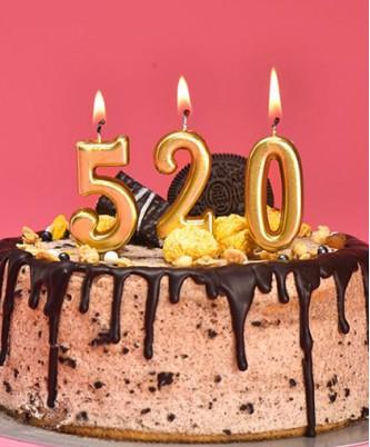 """Свечи для торта """"Цифры золото, серебро"""""""
