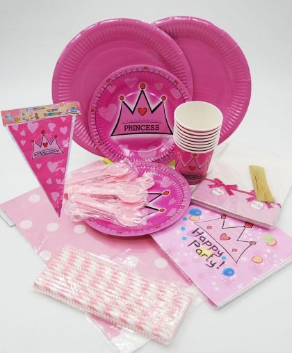 """Посуда для детского дня рождения """"Princess +"""""""