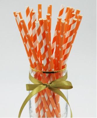 """Трубочки  """"Оранжевый микс"""" (25 штук)"""
