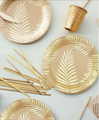 """Набор посуды """"Золотые листья """", на 8 персон"""