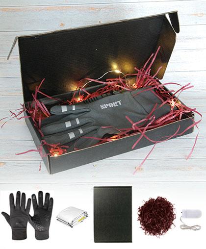 Коробка+гирлянда+лафит