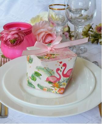 "Бонбоньерка-куб ""Фламинго"""
