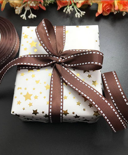 "Репсовая лента ""Шоколад"" / ширина 1.5 см"