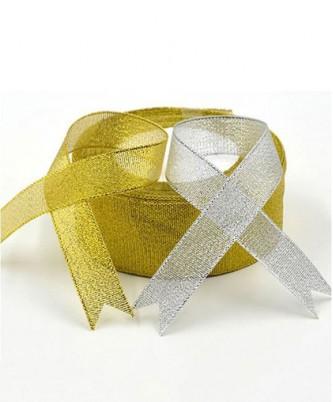 """Лента металлизированная """"Золото, серебро"""" / метражом"""