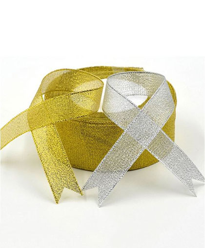 "Лента металлизированная ""Золото, серебро"" / 1 метр"