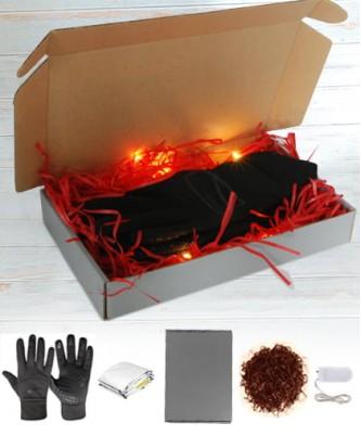 Подарочный сет - коробка+гирлянда+лафит