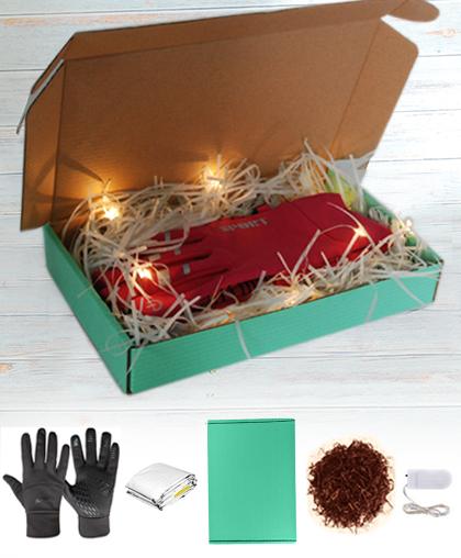 Оформление - коробка+гирлянда+лафит